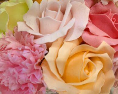 薔薇のブーケ素材